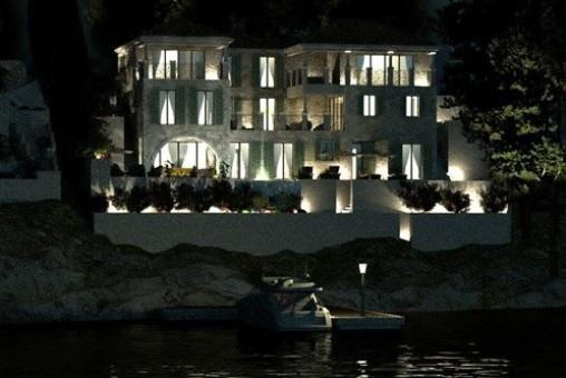 villa-bei-nacht-kroatien