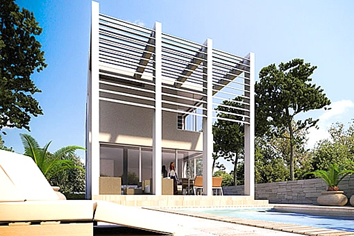 villa ibenik knin moderne luxusvilla mit pool in kroatien kaufen. Black Bedroom Furniture Sets. Home Design Ideas