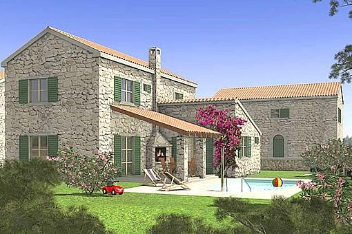 Romantisches Steinhaus bei Zadar